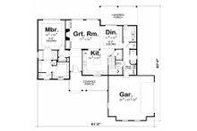 Traditional Floor Plan - Main Floor Plan Plan #20-2184