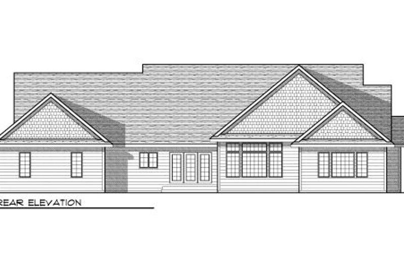 Bungalow Exterior - Rear Elevation Plan #70-951 - Houseplans.com