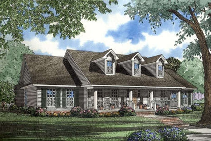 Farmhouse Style House Plan - 4 Beds 2.5 Baths 2388 Sq/Ft Plan #17-1037 Exterior - Front Elevation