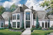 European Style House Plan - 4 Beds 3.5 Baths 4260 Sq/Ft Plan #20-1188 Exterior - Front Elevation