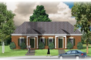 Southern Exterior - Front Elevation Plan #26-126