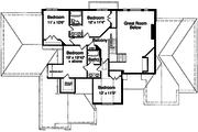 European Style House Plan - 5 Beds 3.5 Baths 3168 Sq/Ft Plan #46-349 Floor Plan - Upper Floor Plan
