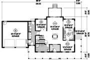 Country Style House Plan - 3 Beds 3 Baths 2369 Sq/Ft Plan #25-4497 Floor Plan - Main Floor Plan