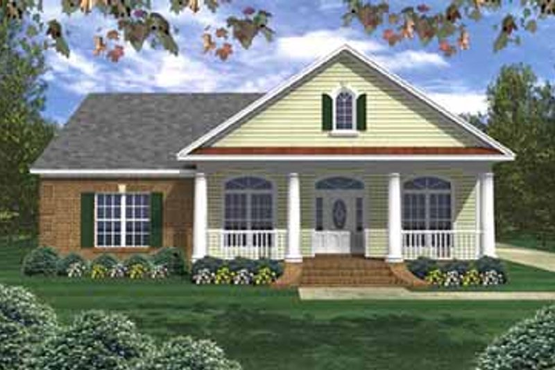 Southern Exterior - Front Elevation Plan #21-140