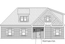 Country Exterior - Front Elevation Plan #932-263