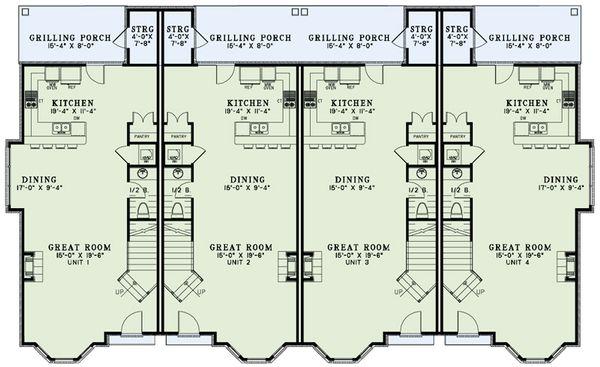 European Floor Plan - Main Floor Plan Plan #17-2528