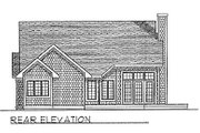 Traditional Style House Plan - 2 Beds 2 Baths 1904 Sq/Ft Plan #70-235 Exterior - Rear Elevation