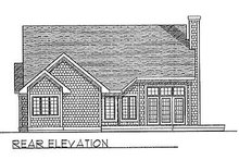 Dream House Plan - Traditional Exterior - Rear Elevation Plan #70-235