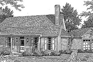 Country Exterior - Front Elevation Plan #41-111