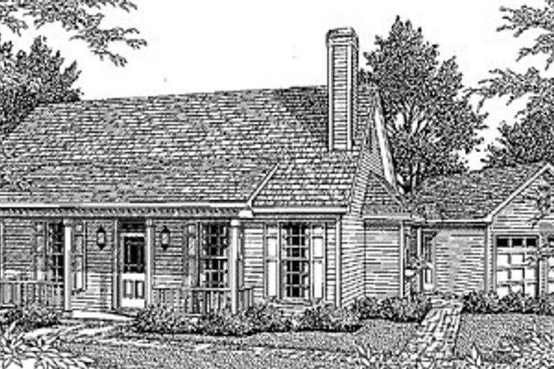 Architectural House Design - Country Exterior - Front Elevation Plan #41-111