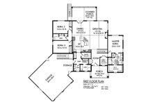 Craftsman Floor Plan - Main Floor Plan Plan #1010-230
