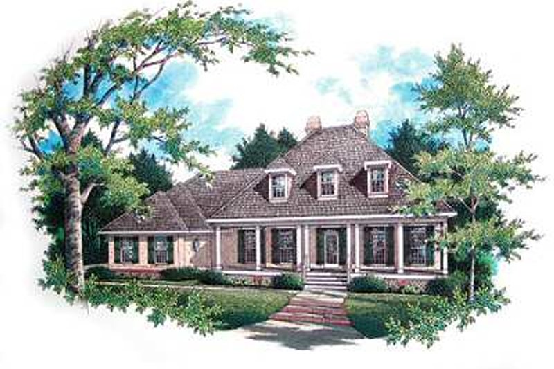Dream House Plan - Traditional Exterior - Front Elevation Plan #45-290