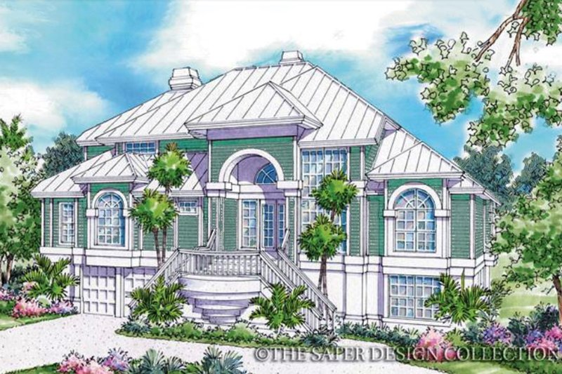 Architectural House Design - Country Exterior - Front Elevation Plan #930-33