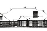 European Style House Plan - 3 Beds 2.5 Baths 2708 Sq/Ft Plan #310-548 Exterior - Rear Elevation