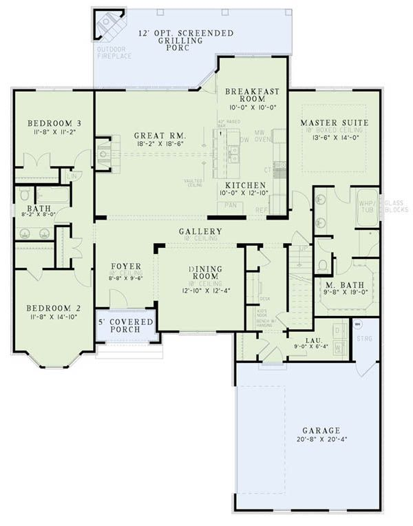 European Floor Plan - Main Floor Plan Plan #17-2508