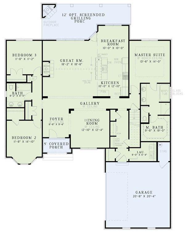 Home Plan - European Floor Plan - Main Floor Plan #17-2508