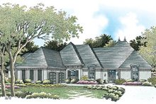 House Plan Design - European Exterior - Front Elevation Plan #45-156