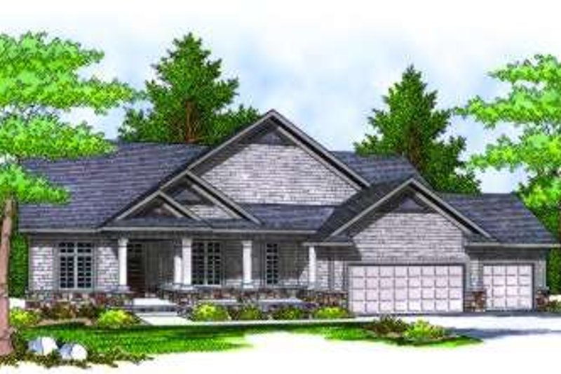 Traditional Exterior - Front Elevation Plan #70-814 - Houseplans.com