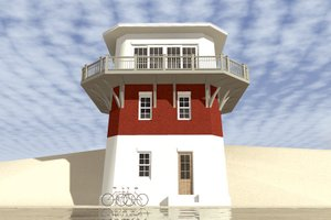 Beach Exterior - Front Elevation Plan #64-225