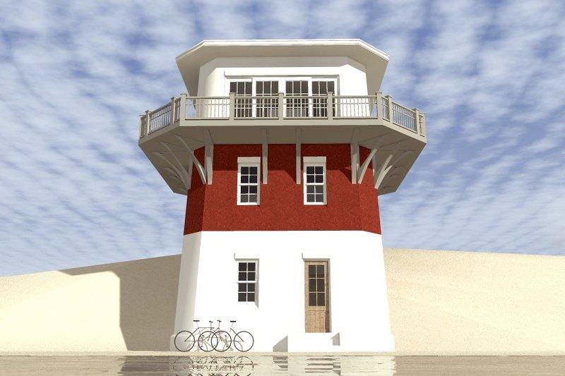 Beach Exterior - Front Elevation Plan #64-225 - Houseplans.com