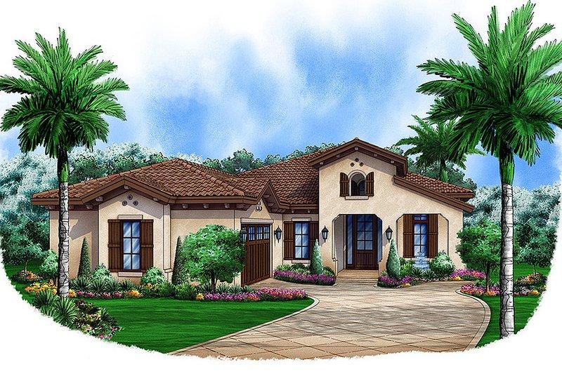 Southwestern style, front elevation