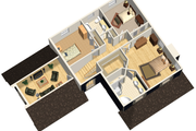 Country Style House Plan - 3 Beds 2 Baths 2216 Sq/Ft Plan #25-4468 Exterior - Front Elevation