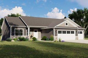Craftsman Exterior - Front Elevation Plan #1064-133