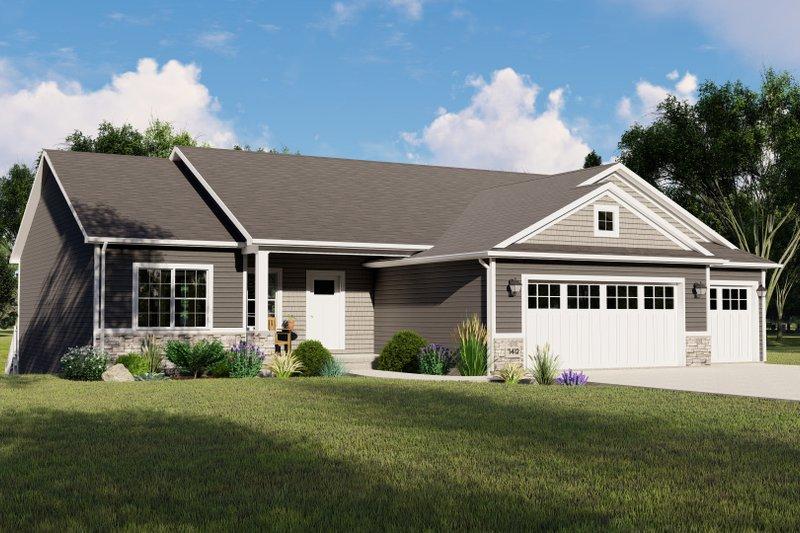 Dream House Plan - Craftsman Exterior - Front Elevation Plan #1064-133