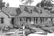 Country Style House Plan - 3 Beds 2.5 Baths 2988 Sq/Ft Plan #41-165 Exterior - Front Elevation