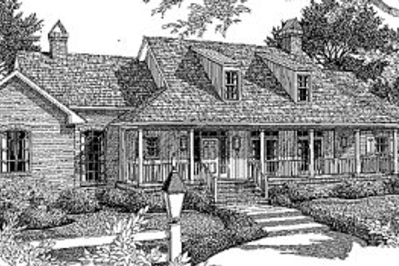 Architectural House Design - Country Exterior - Front Elevation Plan #41-165