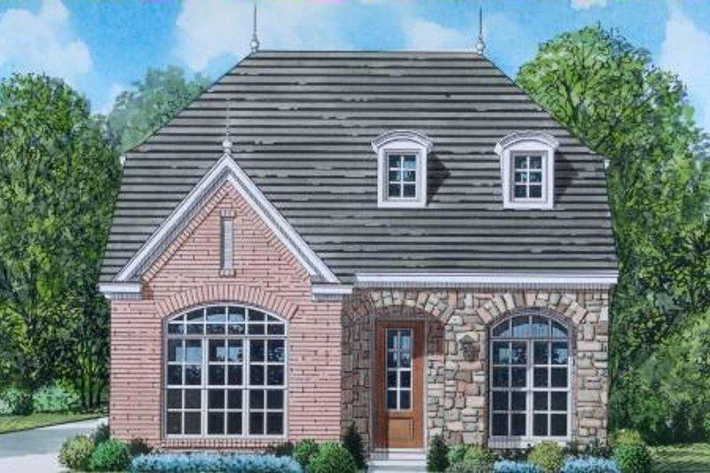 European Style House Plan - 3 Beds 2.5 Baths 1801 Sq/Ft Plan #424-83