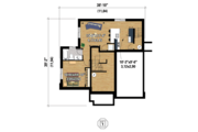 Contemporary Style House Plan - 4 Beds 2 Baths 2741 Sq/Ft Plan #25-4379 Floor Plan - Lower Floor