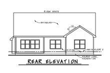 Ranch Exterior - Rear Elevation Plan #20-2298