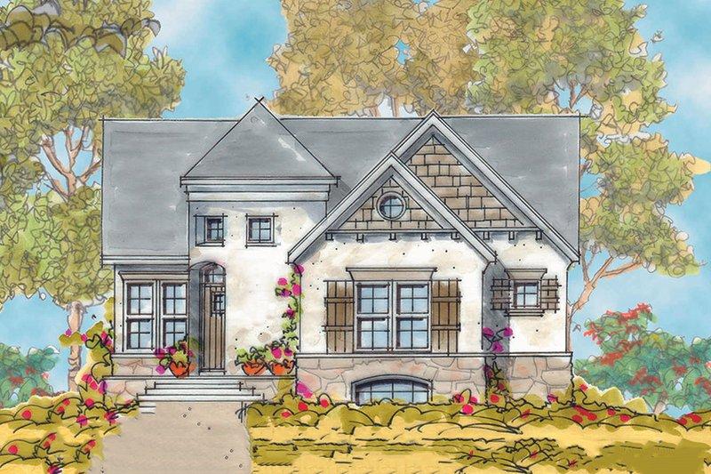 Architectural House Design - European Exterior - Front Elevation Plan #20-1721