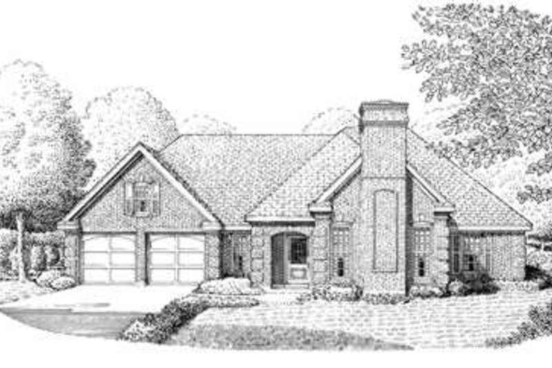 European Exterior - Front Elevation Plan #410-295
