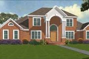 Traditional Style House Plan - 4 Beds 4.5 Baths 3392 Sq/Ft Plan #63-120 Exterior - Front Elevation