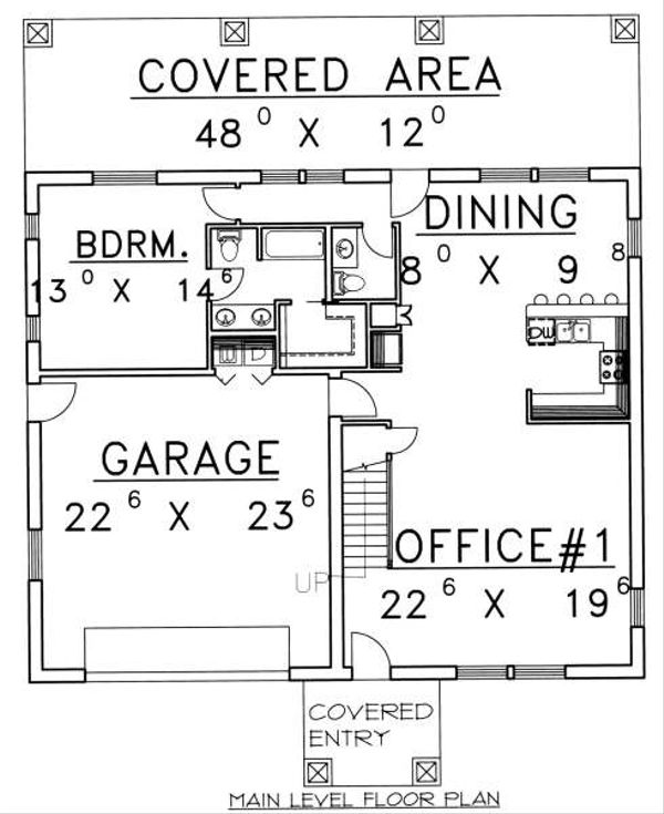 Traditional Floor Plan - Main Floor Plan Plan #117-566