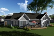 Ranch Style House Plan - 3 Beds 2.5 Baths 2328 Sq/Ft Plan #70-1274 Exterior - Rear Elevation