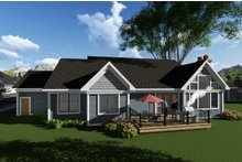 Ranch Exterior - Rear Elevation Plan #70-1274