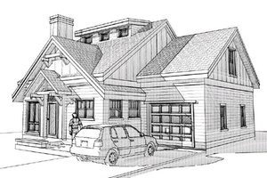 Craftsman Exterior - Front Elevation Plan #451-7