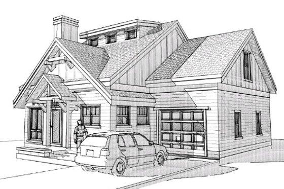 Craftsman Exterior - Front Elevation Plan #451-7