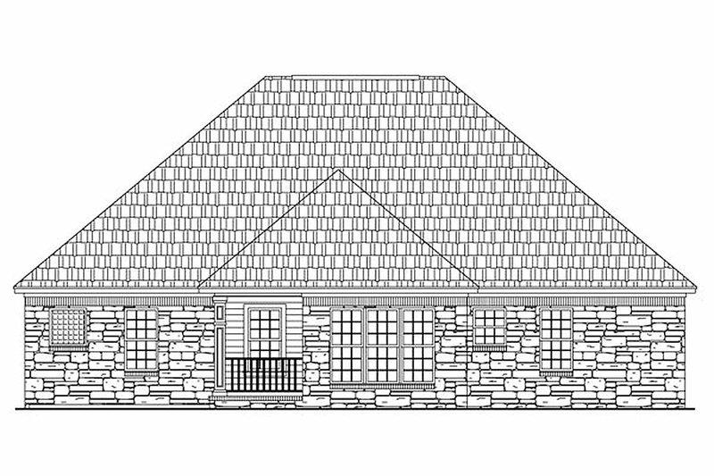 European Exterior - Rear Elevation Plan #21-185 - Houseplans.com