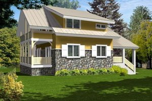 Cottage Exterior - Front Elevation Plan #105-202