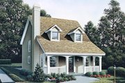 Country Style House Plan - 3 Beds 2.5 Baths 1299 Sq/Ft Plan #57-301 Exterior - Front Elevation
