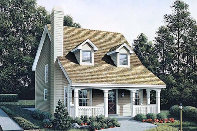 House Design - Country Exterior - Front Elevation Plan #57-301