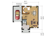 Traditional Style House Plan - 3 Beds 1 Baths 1599 Sq/Ft Plan #25-4663 Floor Plan - Main Floor Plan