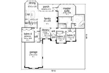 Mediterranean Floor Plan - Main Floor Plan Plan #84-598