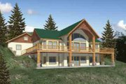 Country Style House Plan - 3 Beds 2.5 Baths 3284 Sq/Ft Plan #117-272 Exterior - Front Elevation