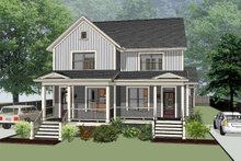 Architectural House Design - Southern Exterior - Front Elevation Plan #79-242