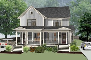 Southern Exterior - Front Elevation Plan #79-242